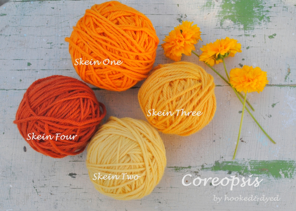 Results of my coreopsis dye experiments