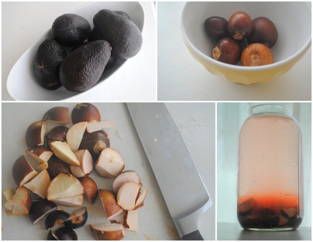 Natural dye with avocados