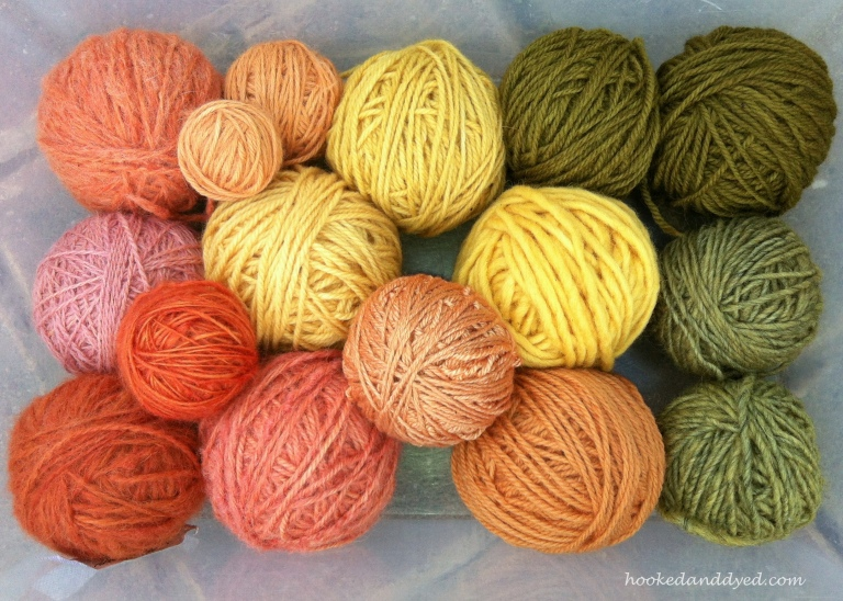 natural dyed yarn rainbow