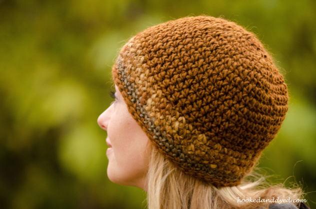 Mushroom dyed hat brown