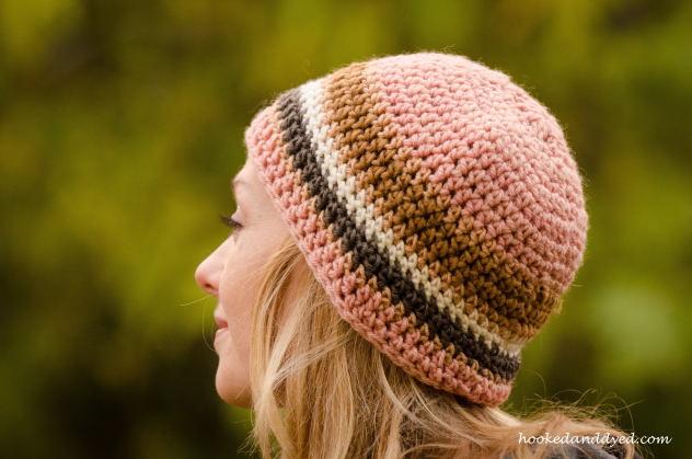 mushroom dyed hat pink