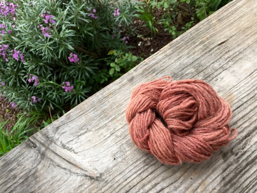 Avocado dyed yarn