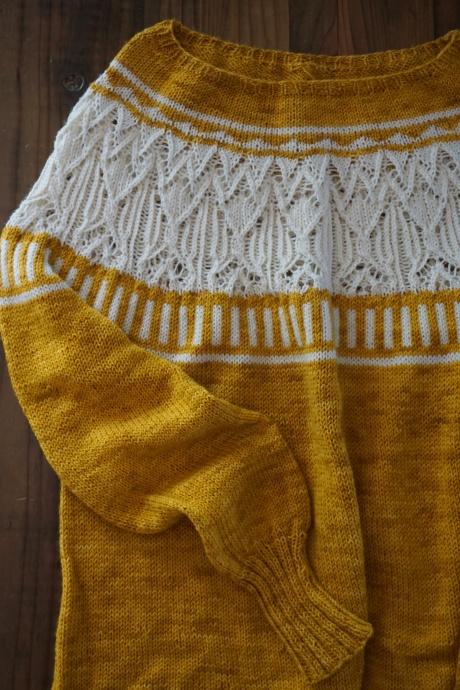 Zweig Sweater handknit with Marigold Dyed Yarn